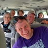 The van ride from Hoonah airport to our cabin