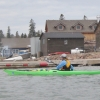Harbor paddling in Grand Marais, Minnesota
