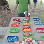Matt lays out a nice spread for lunch